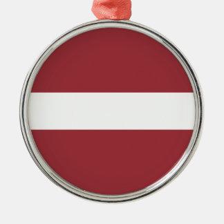 Ornamento De Metal Baixo custo! Bandeira de Latvia