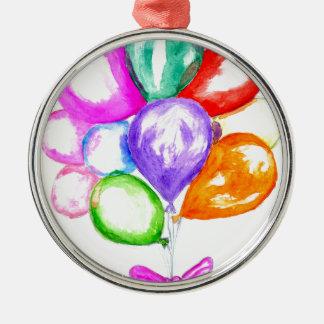 Ornamento De Metal Balões coloridos infláveis
