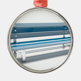 Ornamento De Metal Banco azul