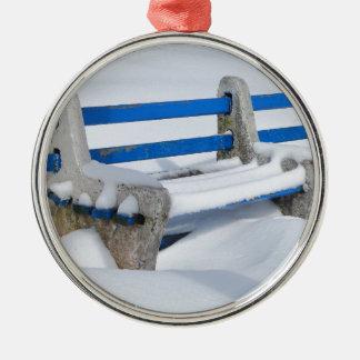Ornamento De Metal Banco da neve