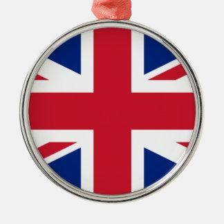 """Ornamento De Metal Bandeira BRITÂNICA """"Union Jack """" de Reino Unido da"""