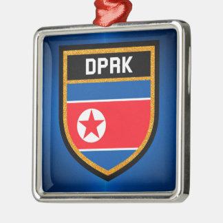 Ornamento De Metal Bandeira da Coreia do Norte