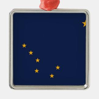 Ornamento De Metal Bandeira de Alaska