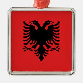 Ornamento De Metal Bandeira de Albânia - Flamuri mim Shqipërisë