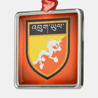 Ornamento De Metal Bandeira de Bhutan