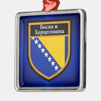 Ornamento De Metal Bandeira de Bósnia e de Herzegovina