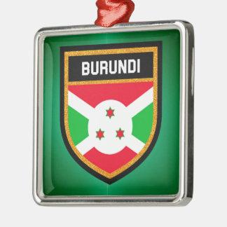 Ornamento De Metal Bandeira de Burundi