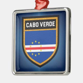 Ornamento De Metal Bandeira de Cabo Verde