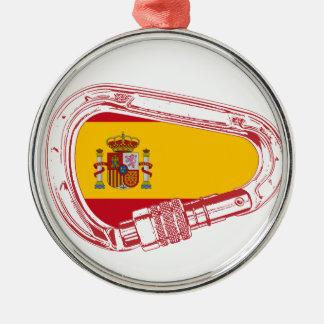 Ornamento De Metal Bandeira de Carabiner da espanha