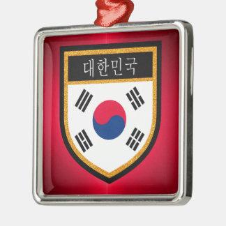 Ornamento De Metal Bandeira de Coreia