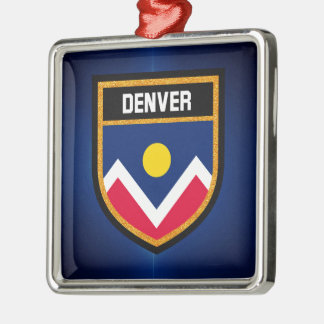 Ornamento De Metal Bandeira de Denver