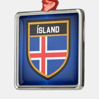 Ornamento De Metal Bandeira de Islândia