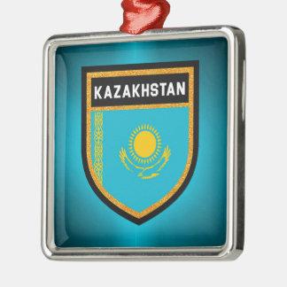 Ornamento De Metal Bandeira de Kazakhstan