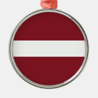 Ornamento De Metal Bandeira de Latvia