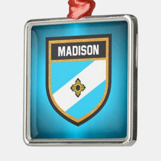Ornamento De Metal Bandeira de Madison
