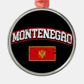 Ornamento De Metal Bandeira de Montenegro
