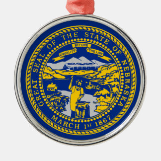 Ornamento De Metal Bandeira de Nebraska