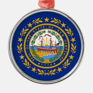 Ornamento De Metal Bandeira de New Hampshire