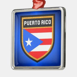 Ornamento De Metal Bandeira de Puerto Rico