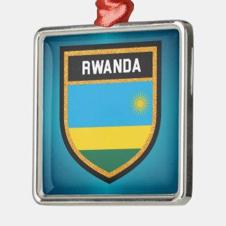 Ornamento De Metal Bandeira de Rwanda