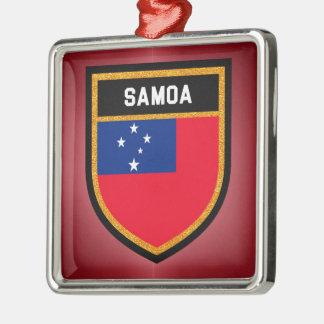 Ornamento De Metal Bandeira de Samoa