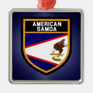Ornamento De Metal Bandeira de Samoa Americanas