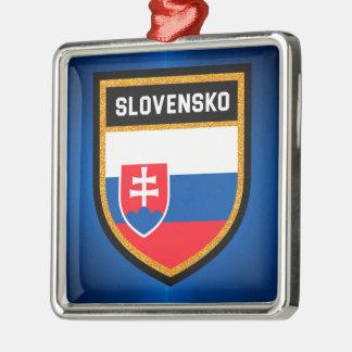 Ornamento De Metal Bandeira de Slovakia