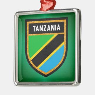 Ornamento De Metal Bandeira de Tanzânia