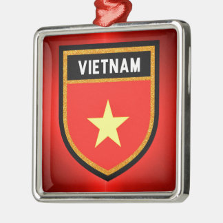Ornamento De Metal Bandeira de Vietnam