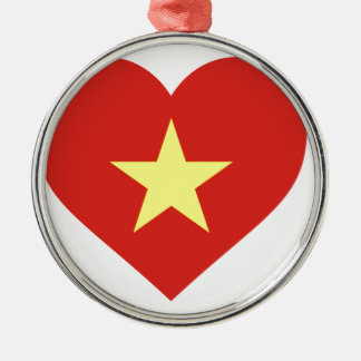 Ornamento De Metal Bandeira de Vietnam - vàng do sao do đỏ do amor