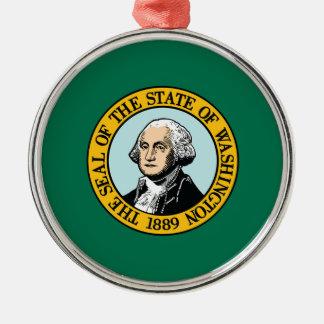 Ornamento De Metal Bandeira de Washington