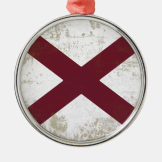 ORNAMENTO DE METAL BANDEIRA DO ALABAMA