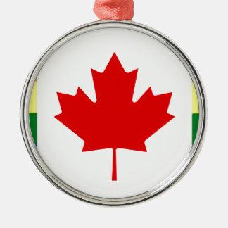 Ornamento De Metal Bandeira do arco-íris de Canadá