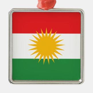 Ornamento De Metal Bandeira do Curdistão; Curdo; Curdo