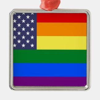Ornamento De Metal Bandeira do orgulho dos E.U.