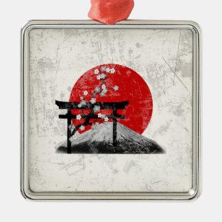 Ornamento De Metal Bandeira e símbolos de Japão ID153