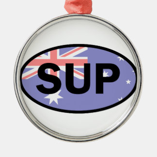 Ornamento De Metal Bandeira Standup de Paddleboard Austrália