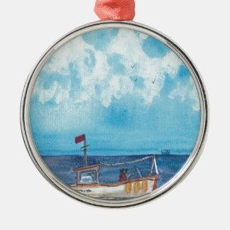 Ornamento De Metal Barco de pesca