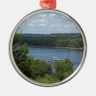 Ornamento De Metal Barco do rio Mississípi