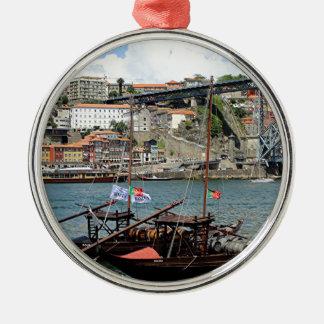 Ornamento De Metal Barcos do tambor de vinho, Porto, Portugal