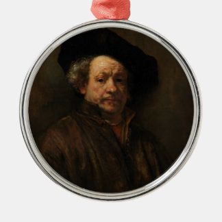 Ornamento De Metal Belas artes do retrato de auto de Rembrandt Van