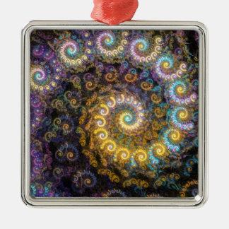 Ornamento De Metal Beleza do fractal do nautilus