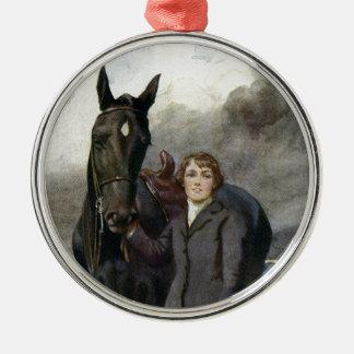 Ornamento De Metal Beleza preta - escolheu-me para seu cavalo