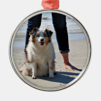 Ornamento De Metal Bennett - mini australiano - Rosie - praia de
