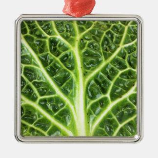 Ornamento De Metal Berza chou couve-de-milão Savoy cabbage vert