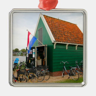 Ornamento De Metal Bicicletas, vila holandesa do moinho de vento,