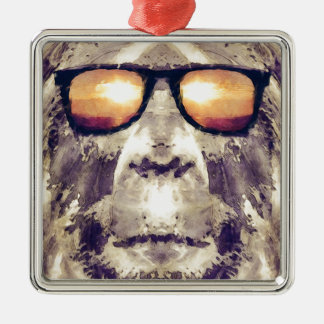 Ornamento De Metal Bigfoot nas máscaras