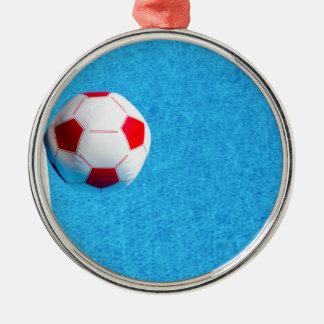 Ornamento De Metal bola de praia Vermelho-branca que flutua na