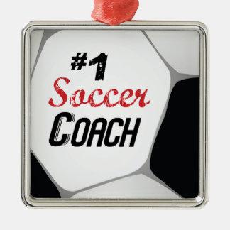 Ornamento De Metal Bola do treinador do futebol #1 grande