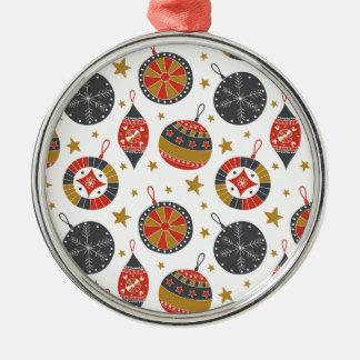 Ornamento De Metal Bolas de suspensão e estrelas do Natal cinzento